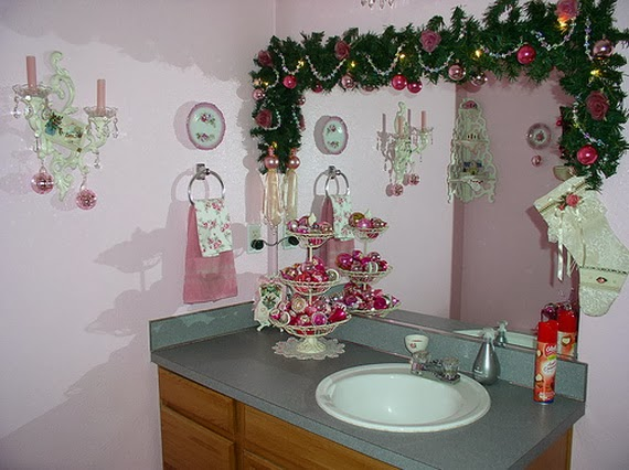 Decorar Baño Navidad:Christmas Bathroom Decorating Ideas