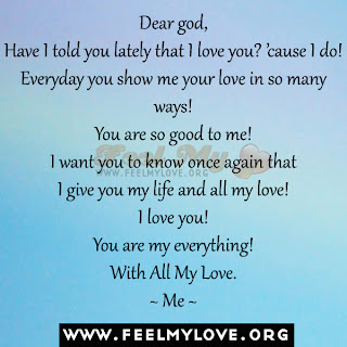 Dear god, Have I told you lately that I love you