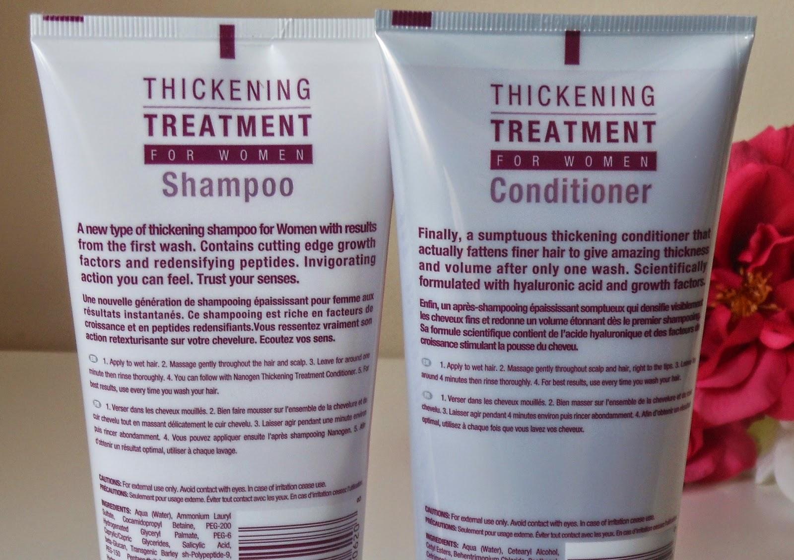 nanogen thickening shampoo conditioner for women thin hair