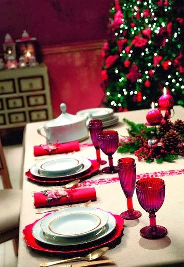 Decoracion de mesas navide as color rojo for Mesas de navidad decoradas sencillas