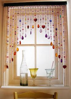 Beaded curtains window