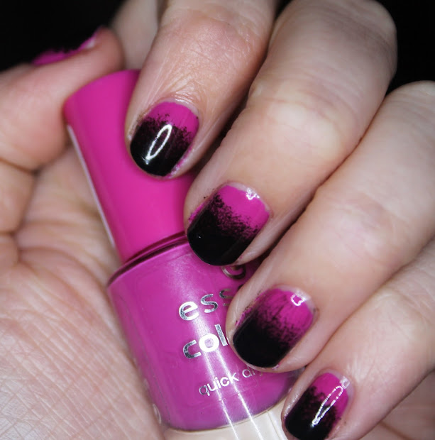 pink and black nail design - pccala