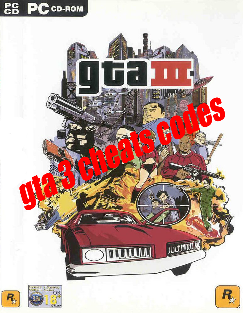 gta 3 cheats codes :