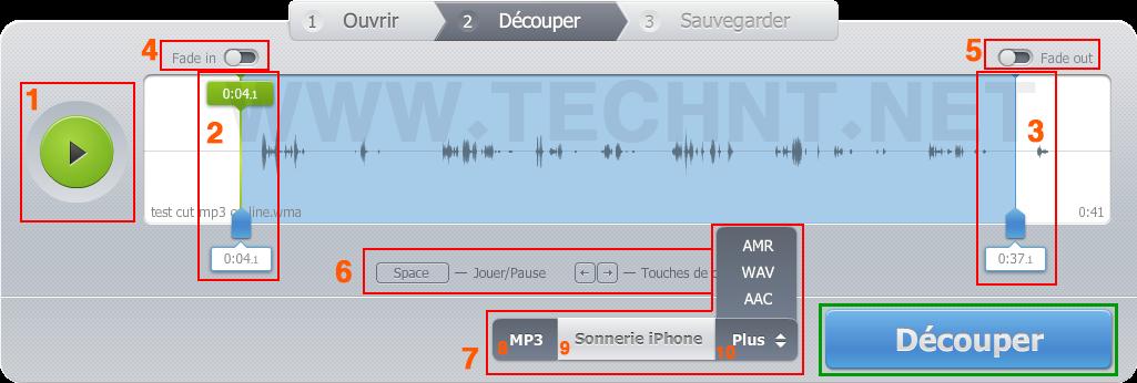 طريقة تقطيع المقاطع الصوتية مباشرة على الأنترنت بدون برامج _ التقنية نت - technt.net