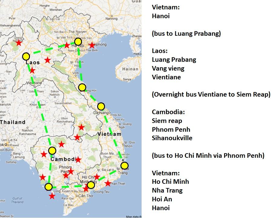 Berny Eats The World Vietnam Lao And Cambodia Planning