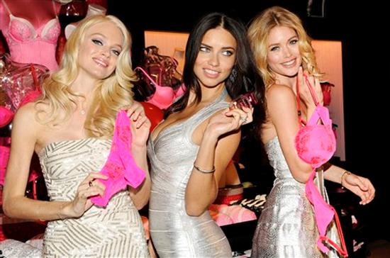 Lindsay Ellingson, Adriana Lima et Doutzen Kroes, les anges sexys de victoria's secret