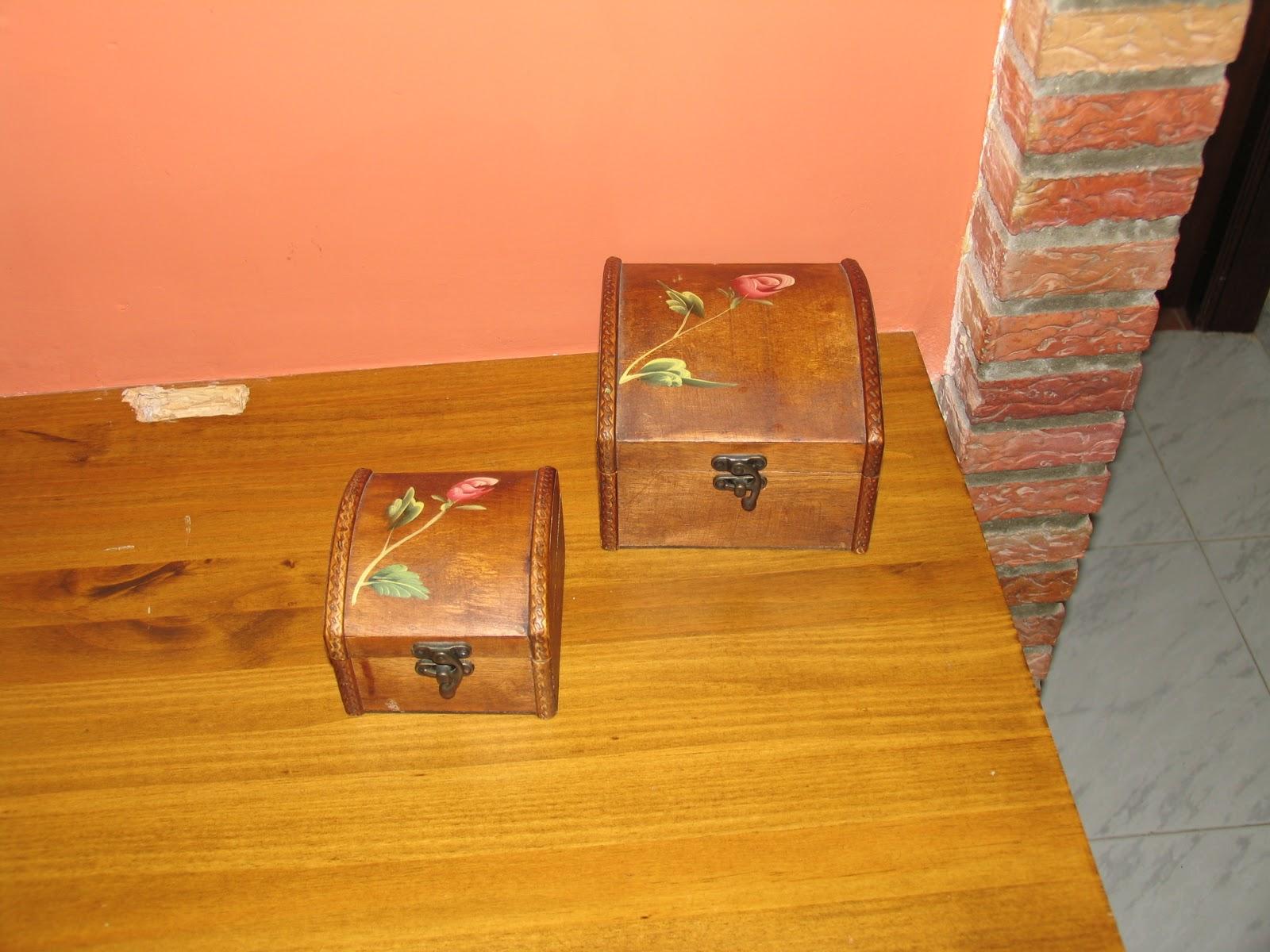 Manualidades cristina y maria cajas de madera decoradas - Cajas de madera manualidades ...