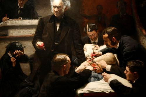 a comparison of the paintings the gross clinic and the agnew clinic by thomas eakins Wordnet_traveler_109629752 # training instances:  to describe paintings that celebrated consumerism of  announced that 46% of the ethiopian gross national.