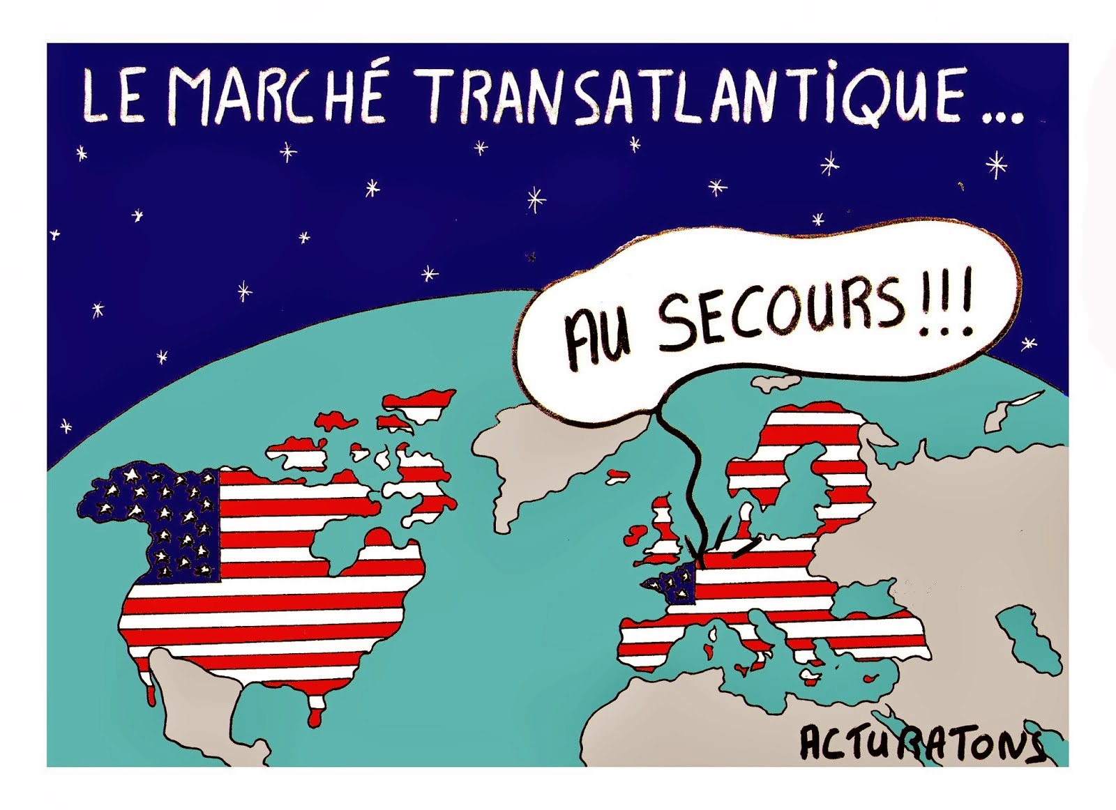 Europe, Trilatérale, mondialisme, soyez un conspirationniste : tôt ou tard, vous serez forcément dans le vrai March%C3%A9-transatlantique