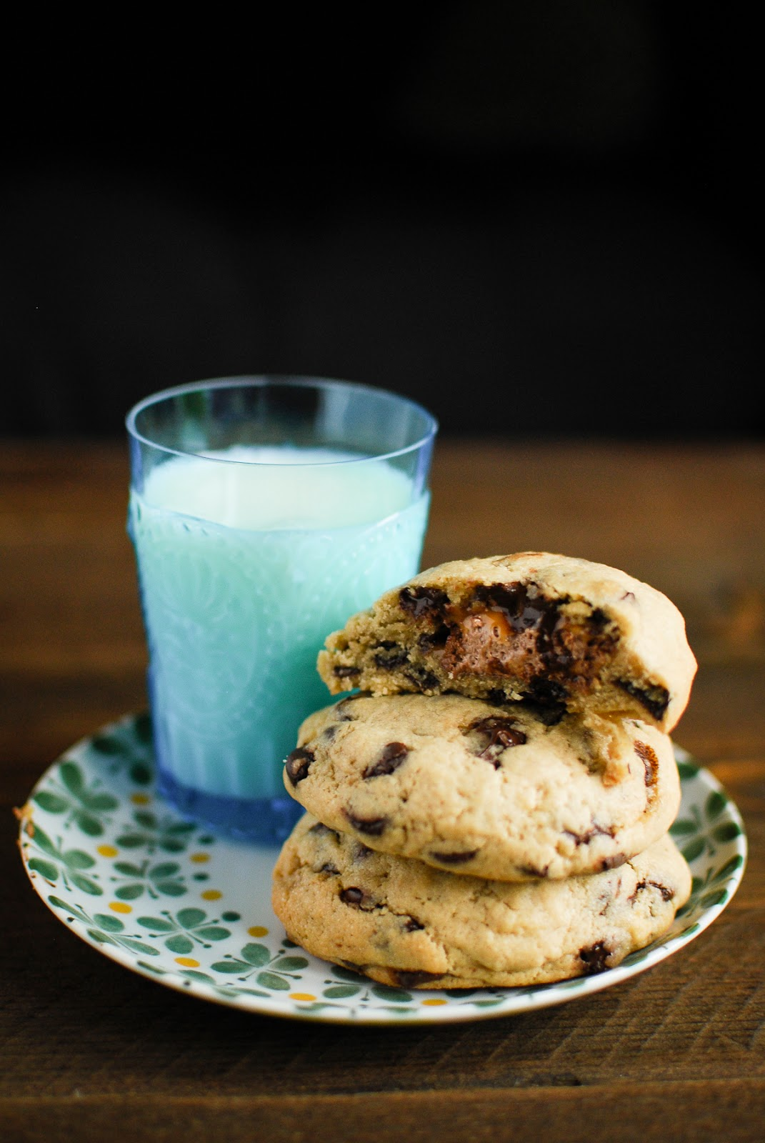 What better way to indulge your sweet tooth than stuffing a mars bar into a chocolate chip cookie.