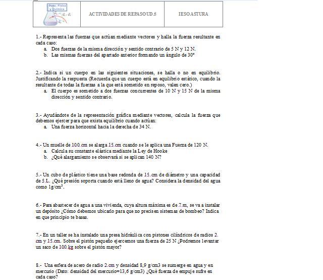 Física y Química 4º ESO: CLASE 57-58: PROBLEMAS DINÁMICA