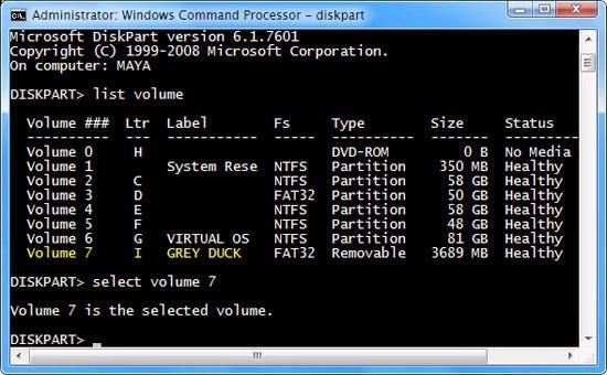Xoá bỏ và gán ký tự ổ đĩa bất kỳ trong Windows với Diskpart