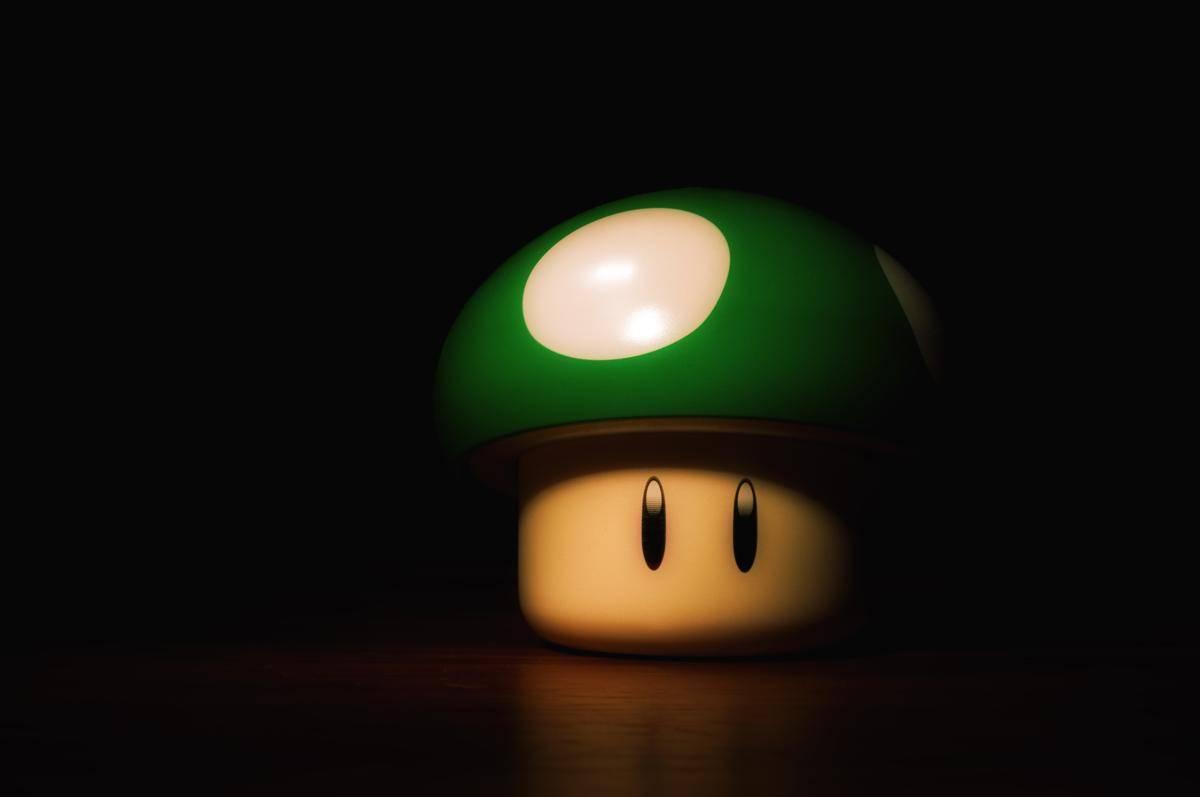 Juego De Baño Santa Tapandose Los Ojos:Fondo de Pantalla Juegos Seta verde Mario bros