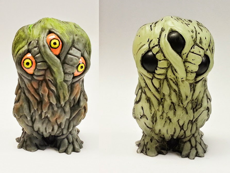 Lil Smoggy Resin Figure by Motorbot - Fully Painted & Glow in the Dark