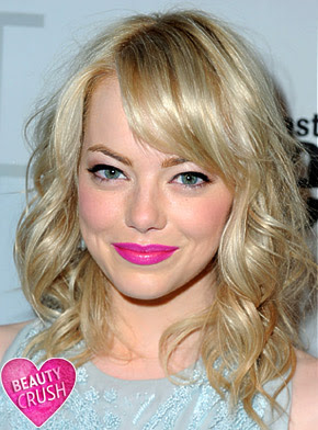 emma+stone Emma Stone Is Pretty in Pink