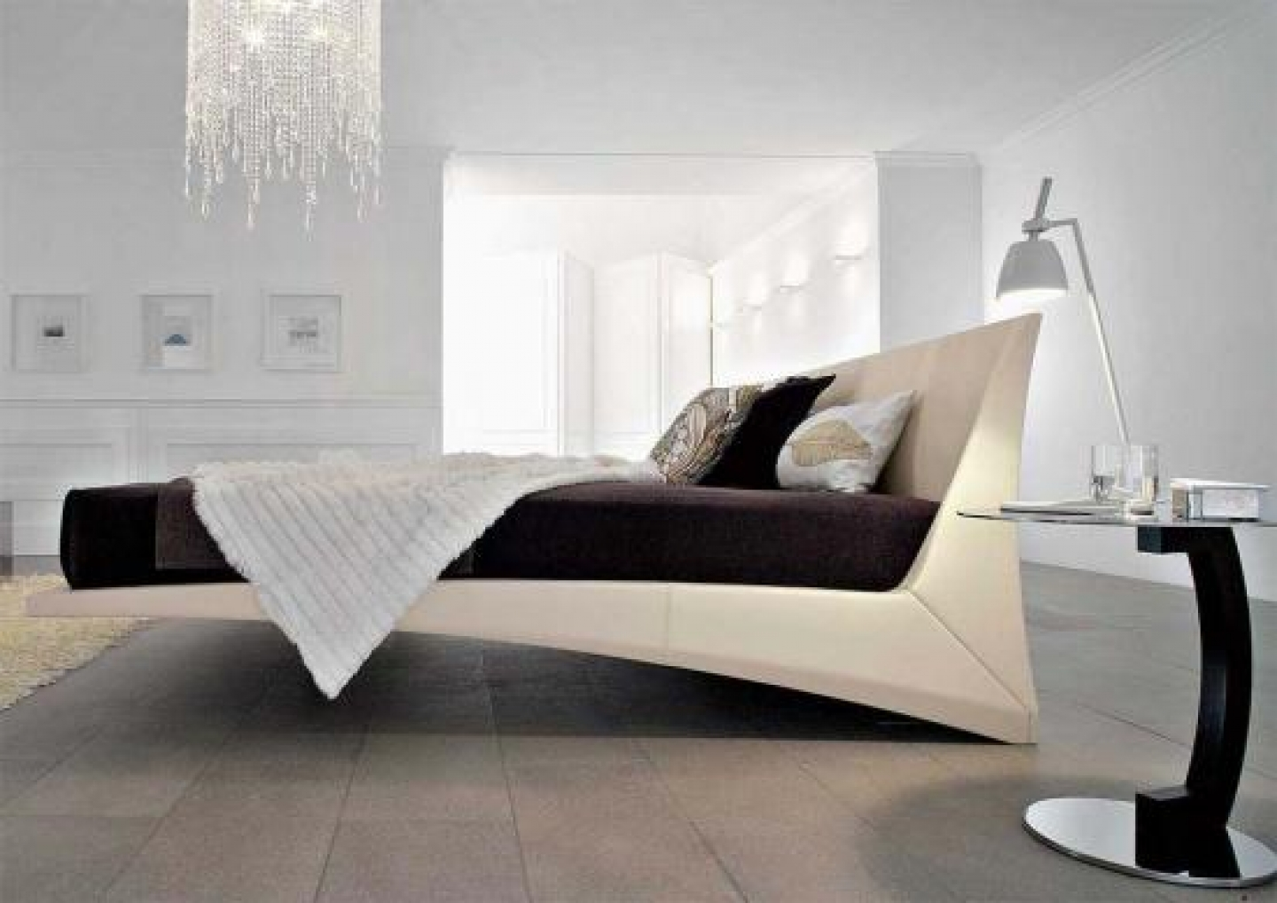 Floating Bed Bedroom Design