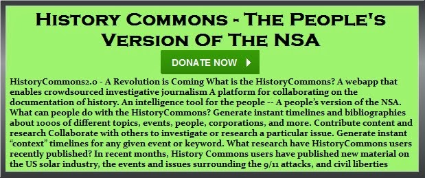 Wednesday, Sept 11, 2013 - [[[[[[[ History Commons - The People's Version Of The NSA ]]]]]]