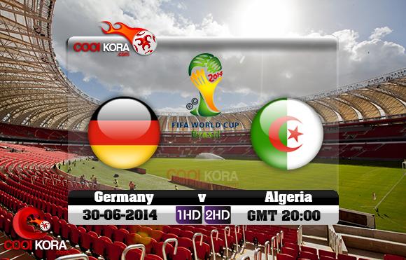 مشاهدة مباراة الجزائر وألمانيا بث مباشر 30-6-2014 علي بي أن سبورت كأس العالم Germany vs Algeria
