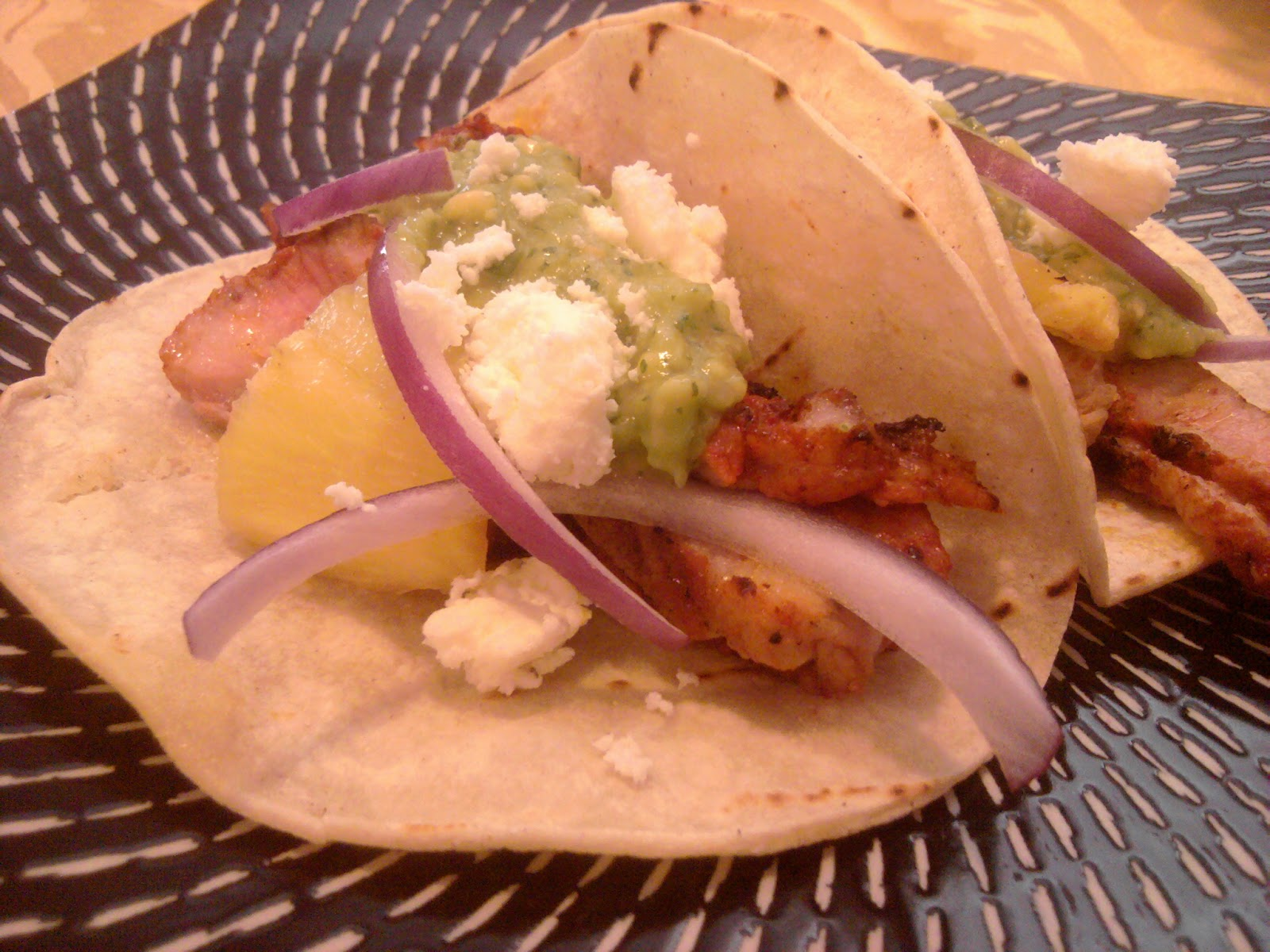 Dishin' It Out: Pork Steak Tacos with Avocado Tomatillo Salsa