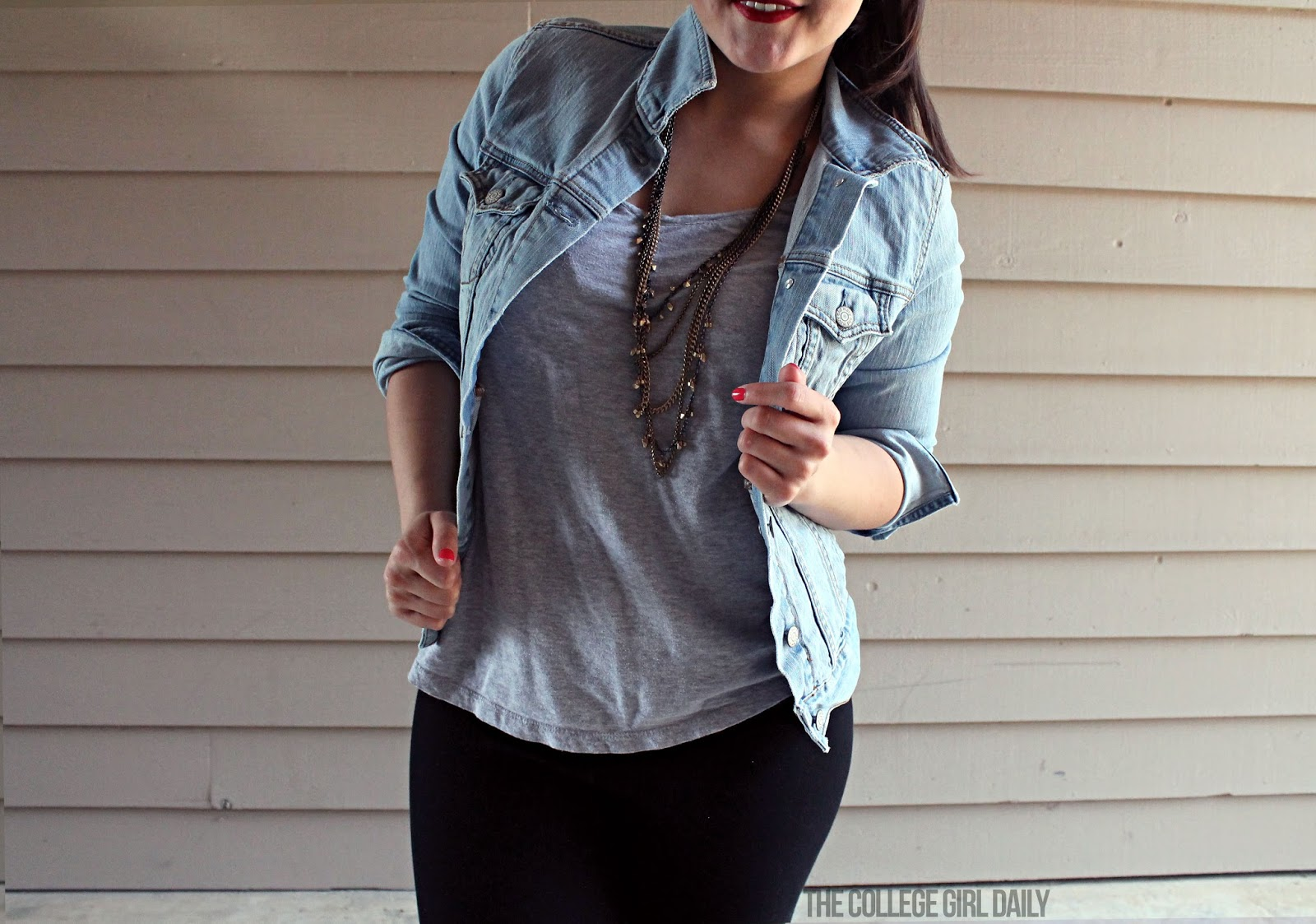 denim, old navy, lou & Grey, summer, college, ootd, outfit, leggings, ponytail, lime crime, formula X, sephora,