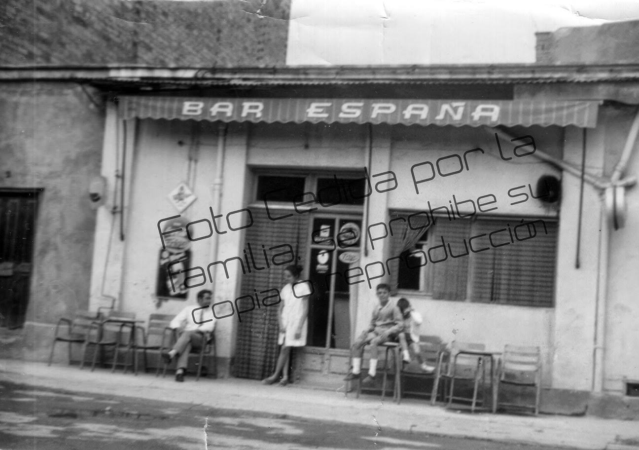 Bar España de Binéfar. Fachada