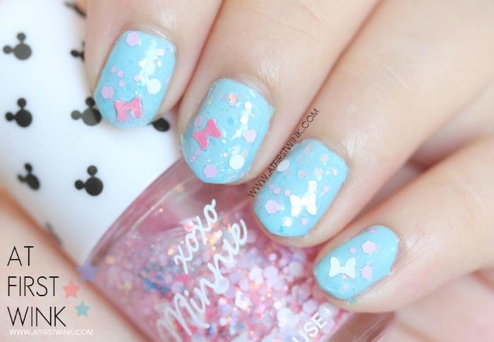 Etude House xoxo Minnie nail polish 04 - Minnie Pink Ribbon swatch