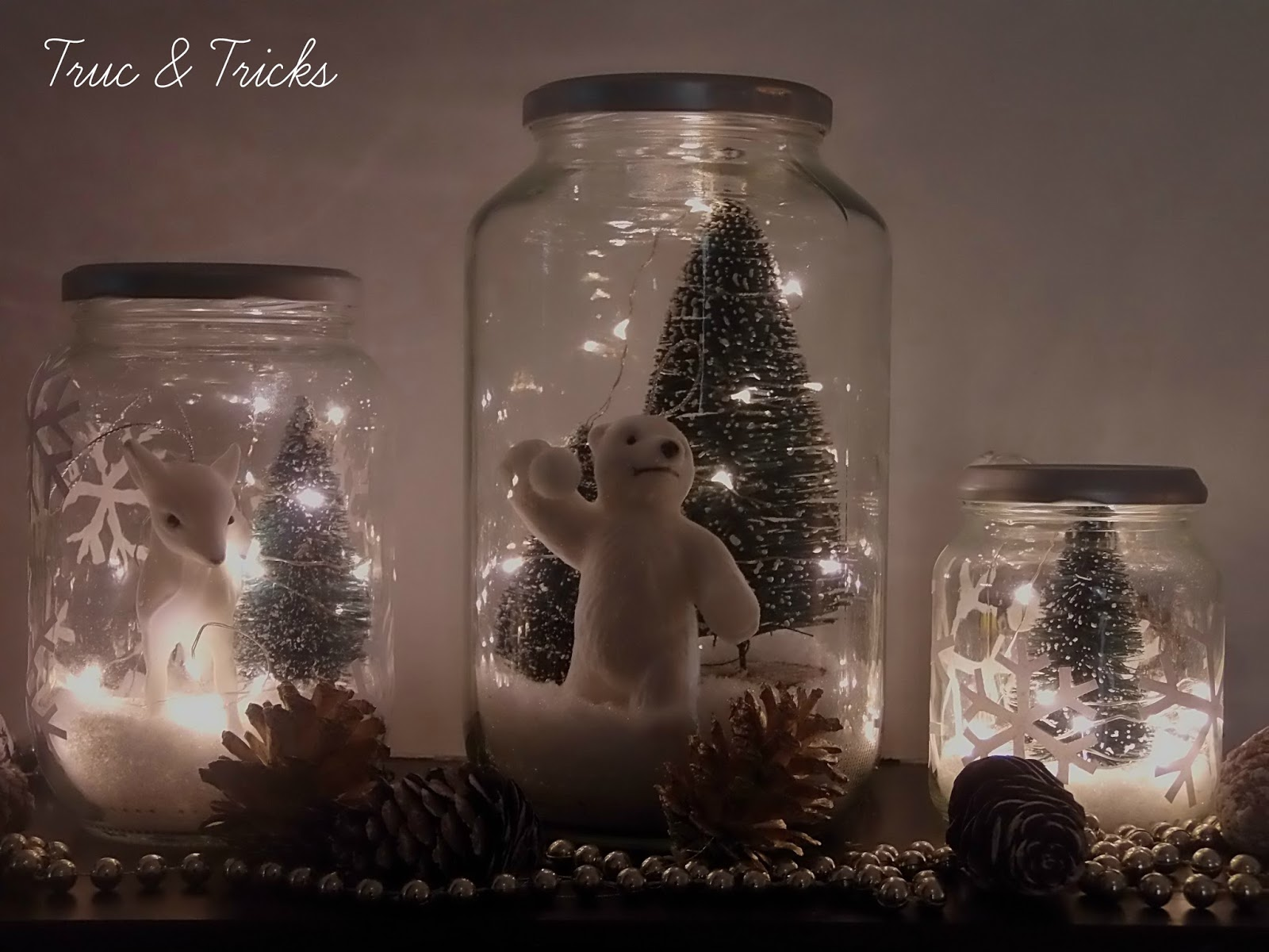 D co de no l diy no l en bocal truc tricks - Decorations lumineuses de noel pour exterieur ...