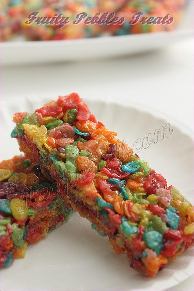 Image Gallery homemade fruity pebble treats