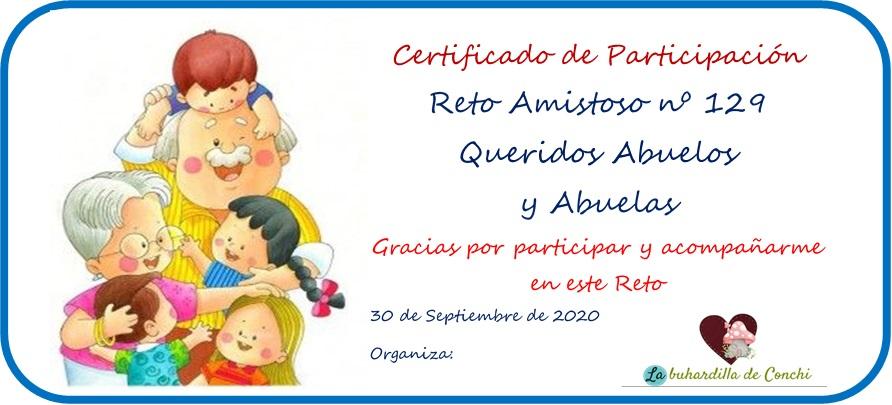 Certificado Reto Amistoso nº 129