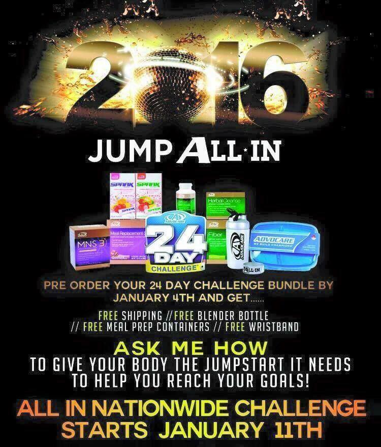 Jump Start 2016 with the AdvoCare 24 Day Challenge