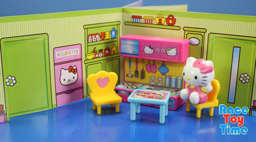 Race Toy Time Unboxing Hello Kitty Mini Doll House Playset