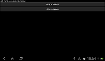 Action Bar Off