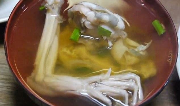 حساء أرجل الضفادع