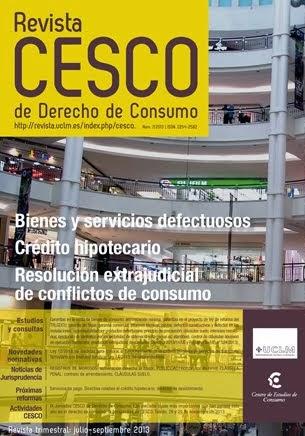 Revista CESCO de Derecho de Consumo