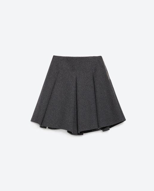 mini falda gris zara