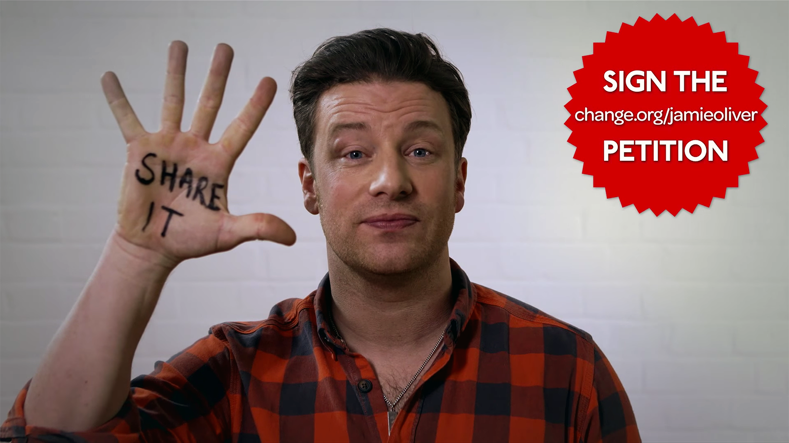 Jamie Oliver's Petition Screenshot