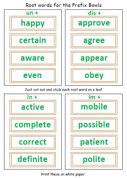 Enjoy this FREE cut and paste activity to review the prefixes un ...
