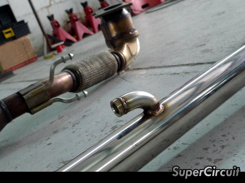 supercircuit exhaust pro shop vw golf 6 gti race downpipe. Black Bedroom Furniture Sets. Home Design Ideas