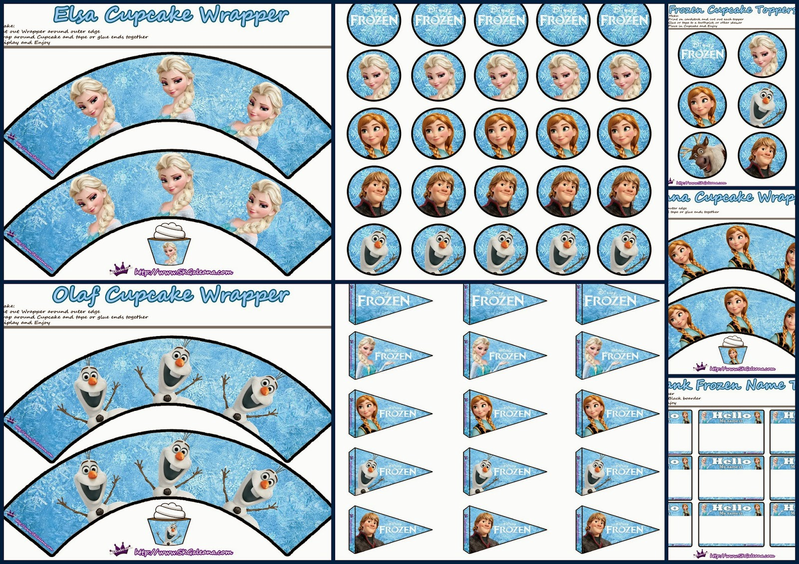 It is a photo of Légend Frozen Printable Labels