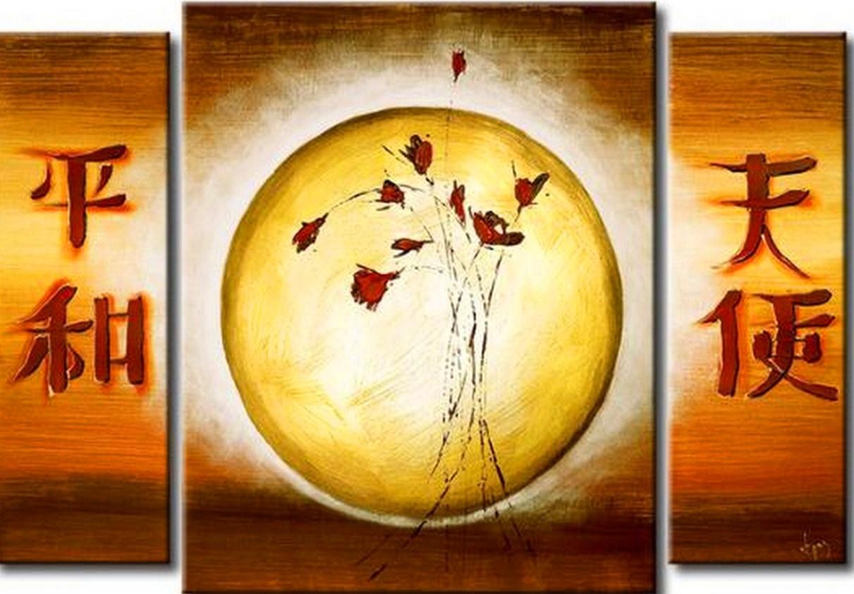 cuadros modernos con escritos chinos para decoracion