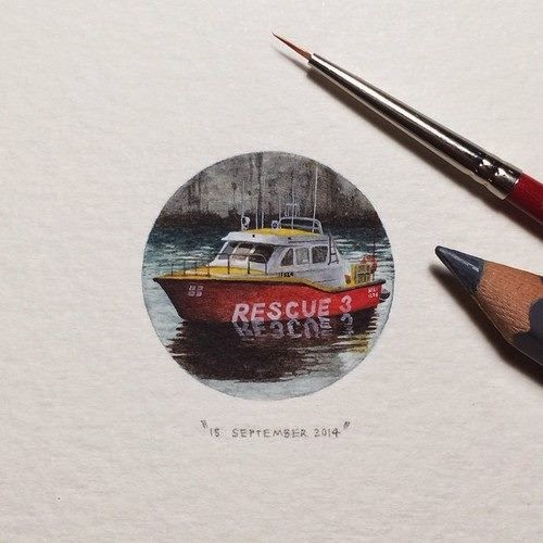 26-National-Sea-Rescue-Institute-Lorraine-Loots-Miniature-Paintings-Commemorating-Special-Occasions-www-designstack-co