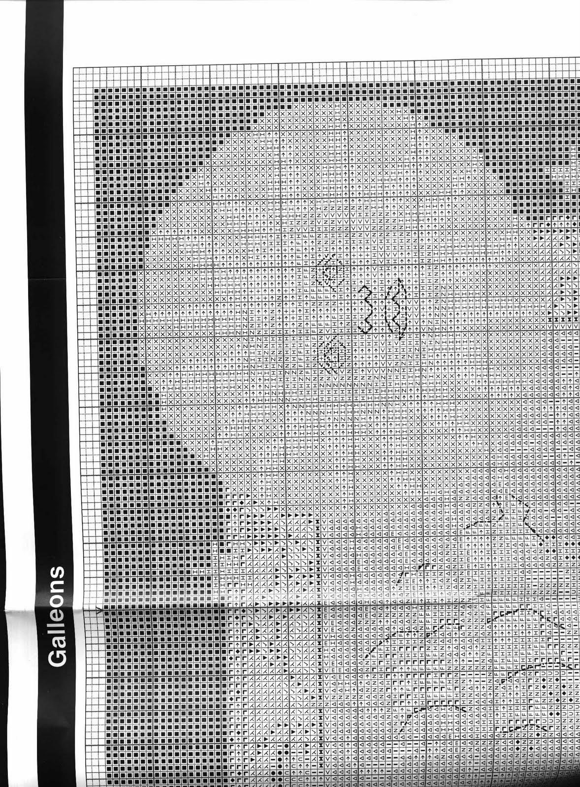 h схемы кораблей вышивки