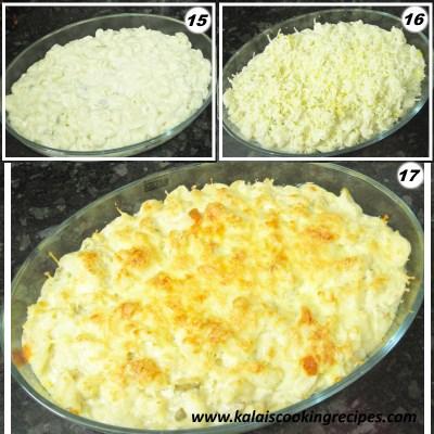 Baked Macarooni Cheese Pasta
