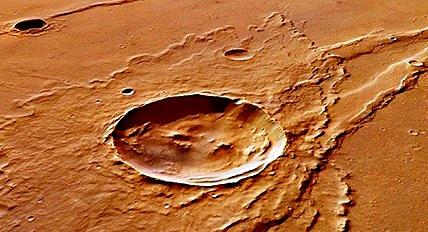 crater agua marte