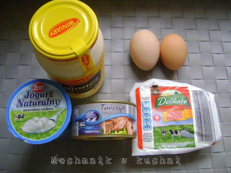 Pasta z tuńczykiem i twarogiem