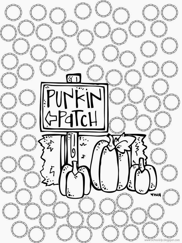 Printable Worksheets fall activity worksheets : School SLP: Open-Ended Dot Activity Sheets: Fall FREEBIE!