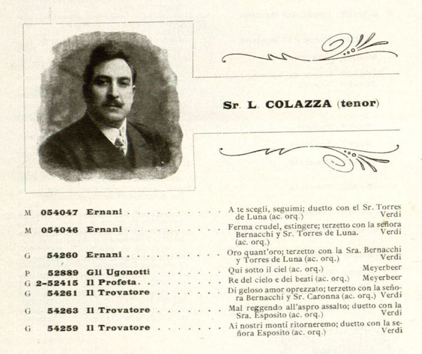 ITALIAN TENOR LUIGI COLAZZA (1868-1927) CD