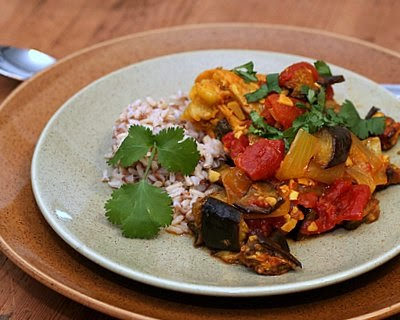 with Eggplant, Tomato & a Pile of Spices!