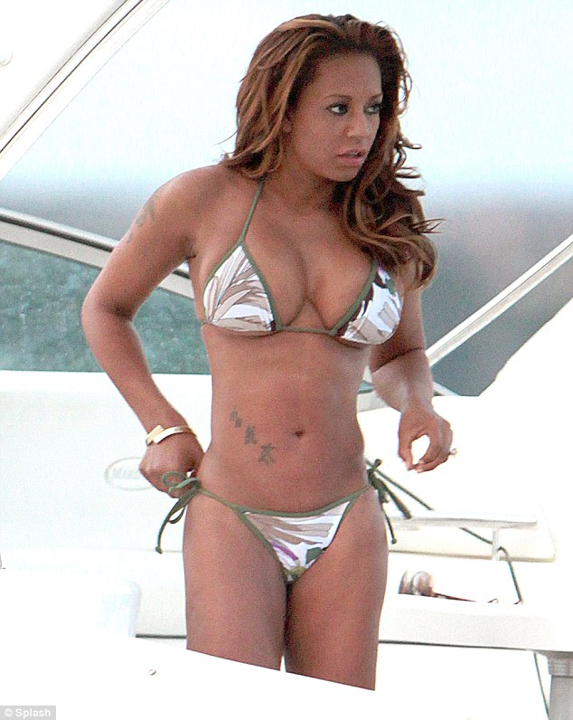Hello Celebrity: Muscular Spice! Mel B shows off a very ...