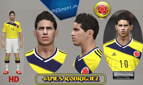 PES 2014 James Rodriguez Face by ZIUTKOWSKI